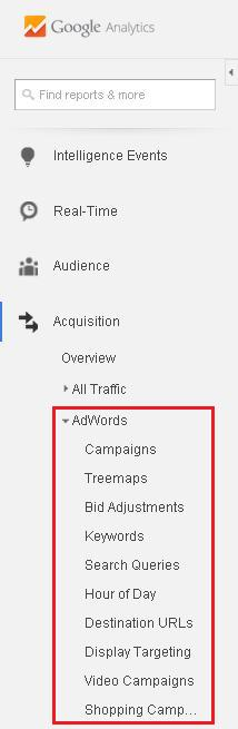Acquisition - Adwords Reports
