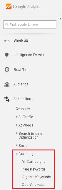 Acquisition - Campaigns Reports